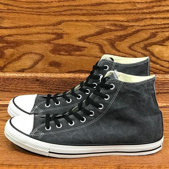 7e76a0b5dad7 Converse CTAS Hi Distressed Black Shoes